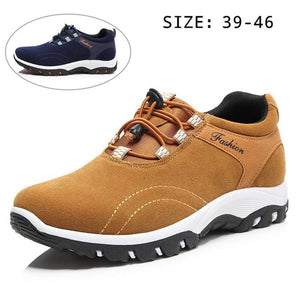Men's Leather Sneakers Waterproof For Outdoor Athletic Sports - zonechics