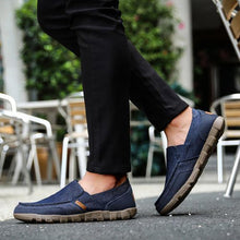 Load image into Gallery viewer, Men Canvas Casual Shoes Large Size Breathable Slip-on Shoes - zonechics
