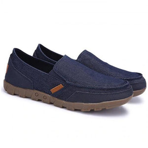 Men Canvas Casual Shoes Large Size Breathable Slip-on Shoes - zonechics