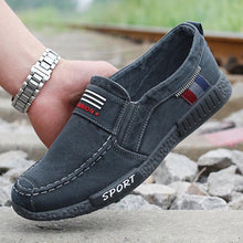 Load image into Gallery viewer, Men's Canvas Casual Shoes Soft Slip-on Flat Shoes - zonechics