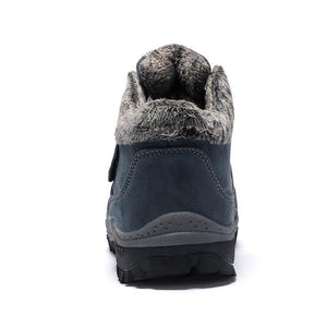 Men Waterproof Suede Leather Fur Warm Ankle Boots - zonechics