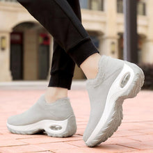 Load image into Gallery viewer, Women fashion ladies large size warm cotton wedge sneakers - zonechics