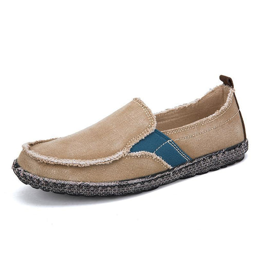 Men Washed Canvas Soft Sole Slip On Casual Shoes - zonechics