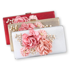 Floral Evening Clutch Bag - zonechics