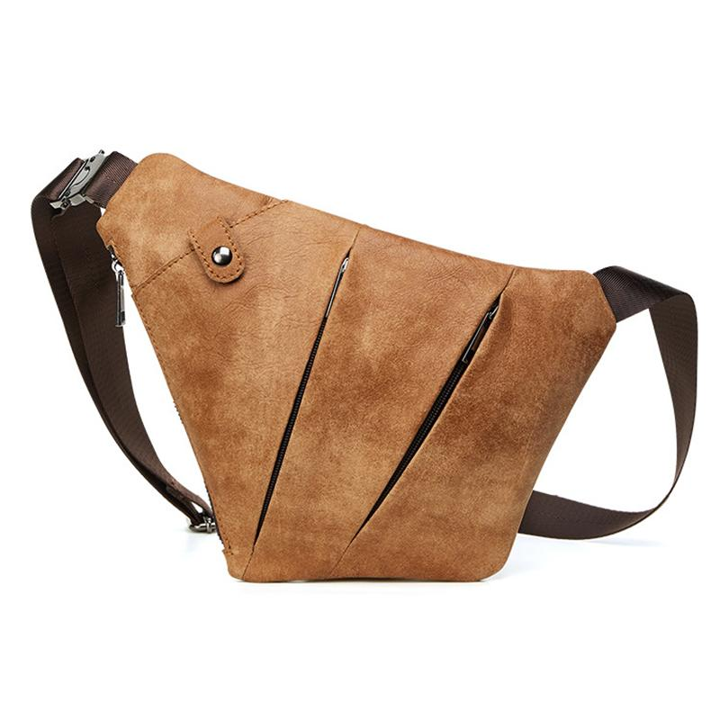 Men's Anti-theft Genuine Leather Sling Bag - zonechics