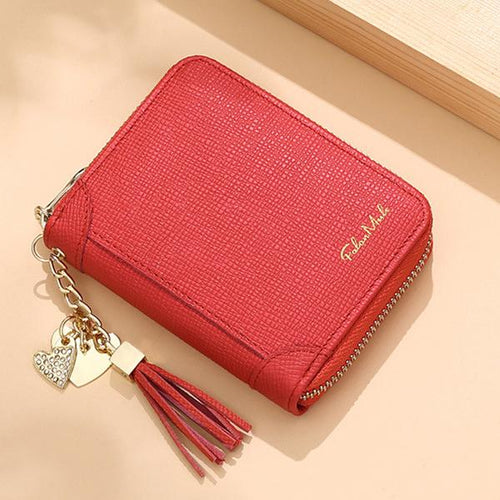 Genuine Leather Multi-Pocket Mini Card Holder - zonechics