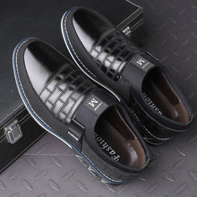 Load image into Gallery viewer, Men Leather Metal Decoration Casual Loafers - zonechics