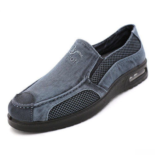 Men's Mesh Canvas Casual Slip-on Shoes - zonechics