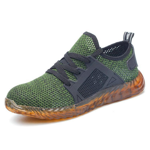 Men Steel Toe Cap Sneaker Mesh Anti-smash Safety Shoes - zonechics