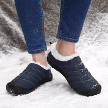 Load image into Gallery viewer, Women Warm Lining Waterproof Colth Flats Snow Boots - zonechics