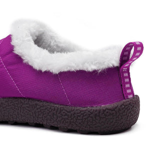 Women Warm Lining Waterproof Colth Flats Snow Boots - zonechics