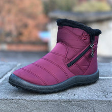Load image into Gallery viewer, Women's Winter Warm Thick Plush Tarpaulin Waterproof Side Zipper Solid Color Non-Slip Boots - zonechics