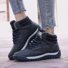 Load image into Gallery viewer, Women's Warm Lining High Top Lace Up Winter Ankle Casual Boots - zonechics