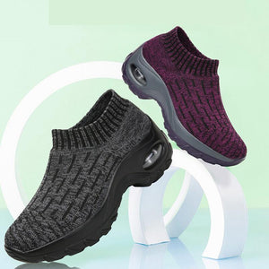 Women's Casual Sneakers With Air Cushion Socks Shoes - zonechics