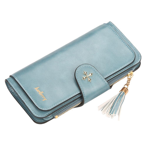 Baellerry ladies buckle wallet long multi-color card phone bag clutch bag wallet - zonechics