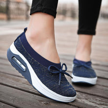 Load image into Gallery viewer, Women's Woven Casual Sneakers Breathable Mesh Walking Shoes - zonechics