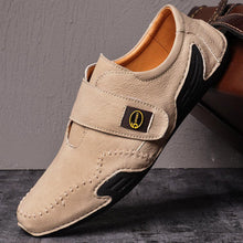Load image into Gallery viewer, Men's Casual Hand Stitching Leather Hook Loop Soft Shoes - zonechics