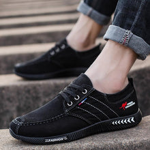 Load image into Gallery viewer, Men's Summer Retro Black Canvas Shoes - zonechics