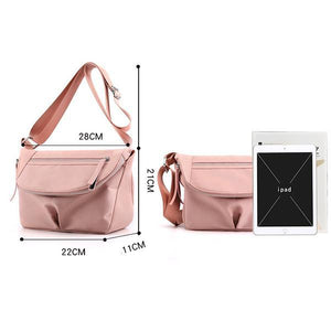 Solid Color Waterproof Casual Crossbody Bag - zonechics