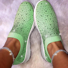 Load image into Gallery viewer, Women Rhinestone Sneakers Breathable Daily Casual Shoes - zonechics