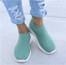 Load image into Gallery viewer, Plus Size Women Breathable Jackeline Slip On Fly-knit Fabric Sneakers - zonechics