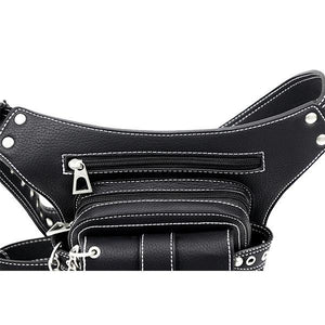 Multifunctional Punk Vintage Waist Bag - zonechics