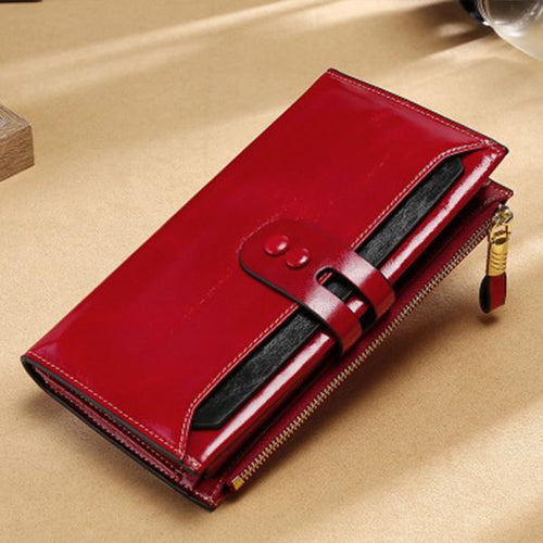 Women's Multi-Pocket Genuine Leather Wallet - zonechics