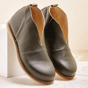 Women's Leather Soft Comfortable Boots - zonechics