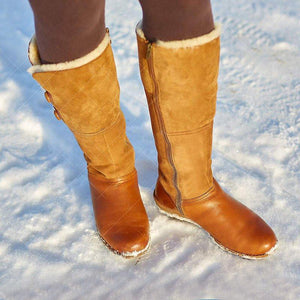 Plus Size  Comfortable Round toe Winter Warm Boots - zonechics