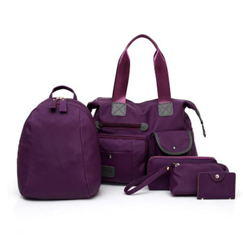 Women's Multifunctional Solid Color Bag Set - zonechics