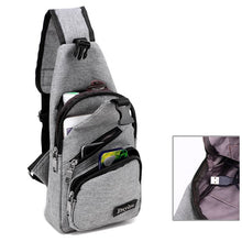 Load image into Gallery viewer, Large Capacity Outdoor Travel USB Charging Sling Bag Chest Bag Crossbody Bag - zonechics