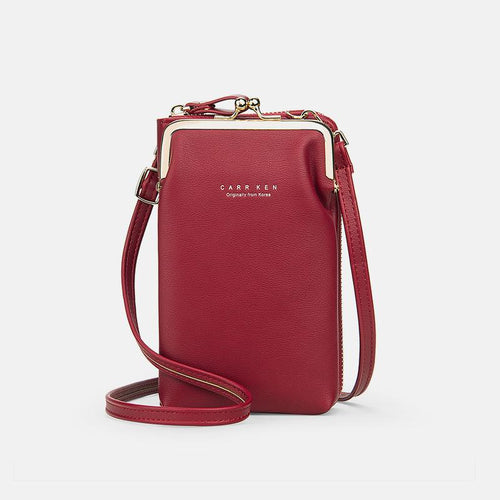 Multifunctional Large Capacity Kiss-Lock Phone Bag - zonechics