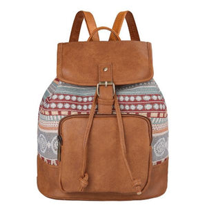 Multifunctional Vintage Printing Backpack - zonechics