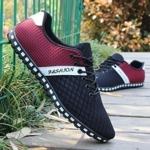 Men's Casual Shoes Breathable Mesh Flat Shoes - zonechics