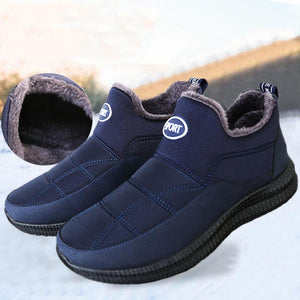 Men's Winter Velvet Warm Non-slip Cotton Shoes - zonechics