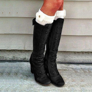 Women's Vintage Double-Breasted Mid-Calf Boots - zonechics