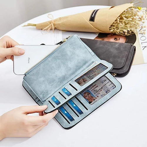 Retro Glamorous Multiple Slots Women Wallets - zonechics