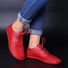 Load image into Gallery viewer, Plus Size Women Flat Shoes Soft Lace Up Casual Shoes - zonechics
