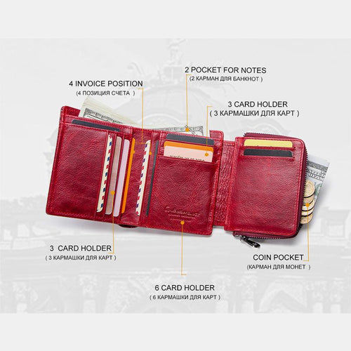 Easy Carry Genuine Leather Multi-slots Wallet - zonechics