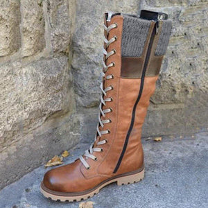 Plus Size Daily Vintage Soft Waterproof Snowboots - zonechics