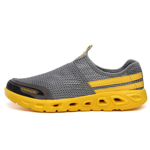 Men Mesh Fabric Water Shoes Breathable Light-weight River Shoes - zonechics