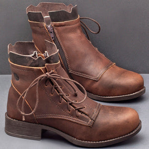 Ladies outdoor country lace-up boots - zonechics