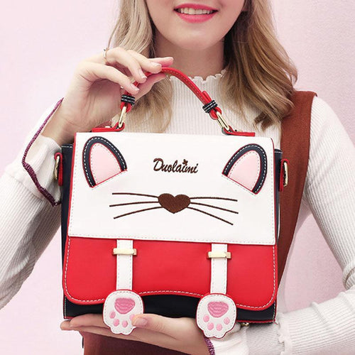 Cat Pattern Fashion Handbag - zonechics