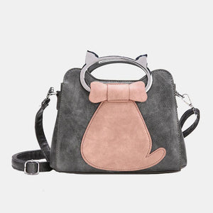 Cat Pattern Printing  Top-Handle Bag - zonechics