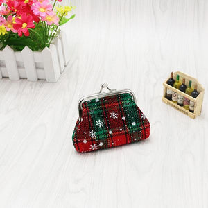 Christmas Scots Style Vintage Mini Kiss-Lock Coin Purse - zonechics