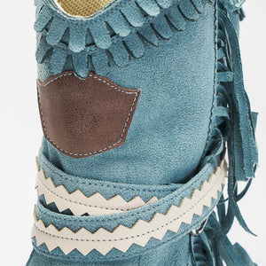 Women's Tassel Faux Suede Winter Boots - zonechics