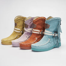 Load image into Gallery viewer, Women's Tassel Faux Suede Winter Boots - zonechics