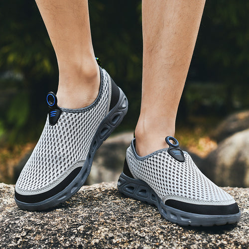 Men Water Shoes Honeycomb Mesh Quick Drying Beach Shoes - zonechics