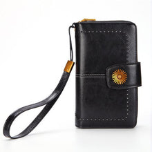 Load image into Gallery viewer, Genuine Leather Oil Wax Leather Zipper Wallet - zonechics