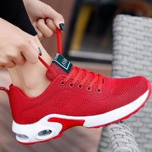 Load image into Gallery viewer, Women Sneakers Breathable Mesh Lace-up Air Cushion Running Shoes - zonechics